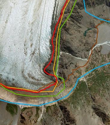 Bir resim bin kelime anlatırsa, bir harita bin resim anlatır. Bu harita, Güney Yarımküre'deki buzul çekilmesinin boyutunu açıkça ortaya koymaktadır.