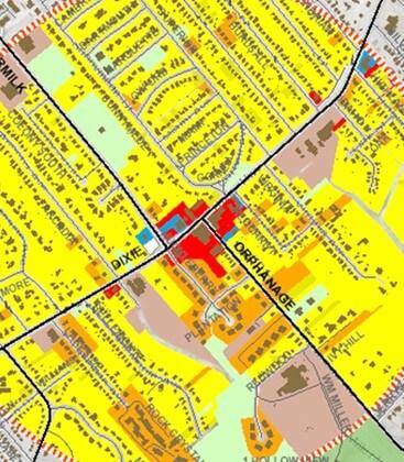 Trafiği tahmin etmek için CBS'yi kullanın. Yandaki harita, arazi kullanım değişikliklerine bağlı olarak trafiğin kötüleşmesinin beklendiğini gösteren bir kavşaktaki zorlukları vurgulamaktadır.